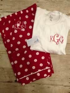 Pajama Monogrammed Christmas Shirts