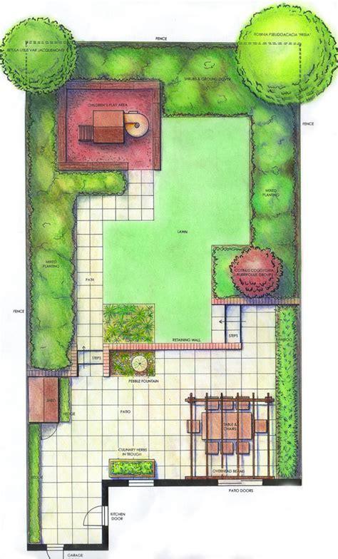 landscape plan view garden design plan view pdf