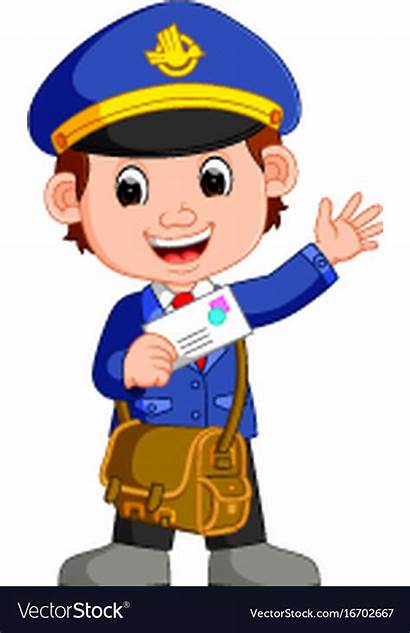 Cartoon Mailman Clip Postman Clipground