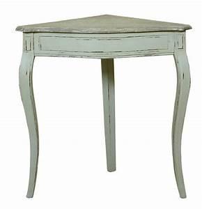 Table D Angle : table d 39 angle acajou terry blanc rustique mobilier ~ Teatrodelosmanantiales.com Idées de Décoration