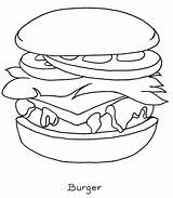 Coloring Pages Burger Rocks Pizza Printable sketch template