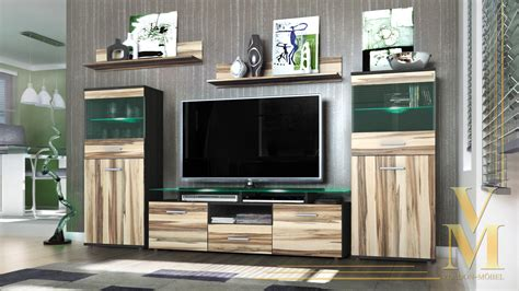 Free Diy Furniture Plans How Modern Wall Unit Tv Stand Media Entertainment Center Almada Black High Gloss Ebay