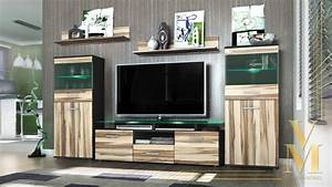 Modern Wall Unit TV Stand Media Entertainment Center ...
