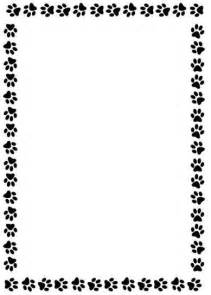 Free Paw Print Border for Microsoft Word