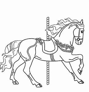 Merry go round patterns sketches designs templates for Merry go round horse template