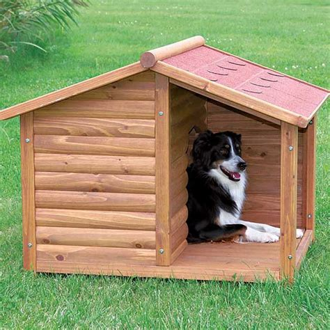 dog house log cabin porch outdoor shade durable yard