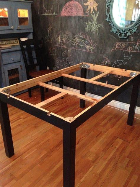 I Had A Black Ikea Bjursta Table And Black Ikea Bjursta