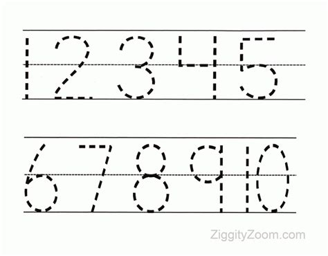 10 preschool math worksheets number recognition flashcards tracing