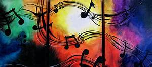 Musical Note Canvas Painting by Sarah Stonehouse