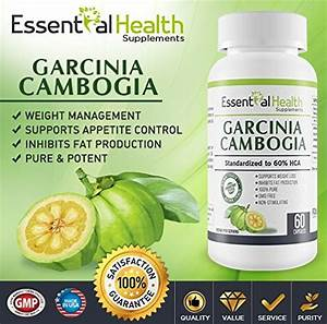 100  Pure Garcinia Cambogia Extract With Hca By Essential Health Best Weight Loss Supplement On