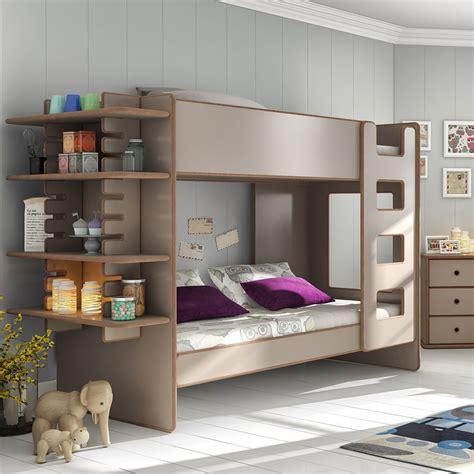 bunk bed shelf bunk bed with shelf in david design beds cuckooland