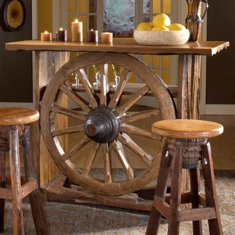 Western Decorations For Home - rustico for the home wagon wheels bar and