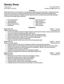 basic resume objective for a part time job unforgettable retail parts pro resume exles to stand out myperfectresume