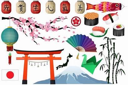 Japanese Elements Clipart Vector Asian Designs Japan
