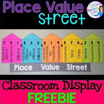 place  classroom display freebie  eugenias