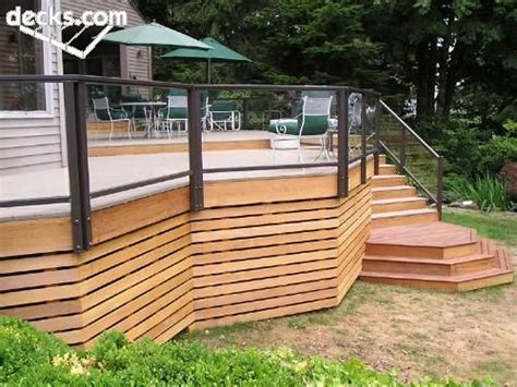 inexpensive deck skirting ideas horizontal 1x3s for a screen the deck clean calm