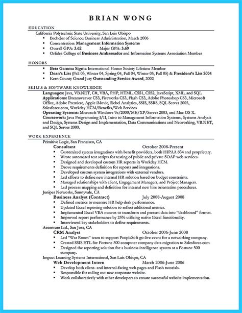Doctor Of Business Administration Resume Sle by Appealing Formula For Wonderful Business Administration Resume