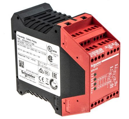 xpsak311144 preventa xps ak configurable safety relay dual channel 24 v ac dc 3 safety 1