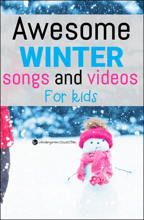 winter songs and for the kindergarten connection 860 | Awesome Winter songs and videos pin