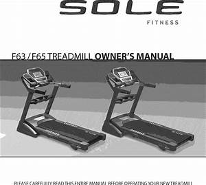 Sole F63 2011 User Manual Treadmill Manuf Thru May 2012