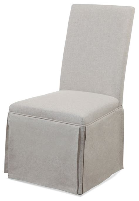 Grey Parson Chair Slipcovers by Skirted Parsons Chairs Set Of 2 Gray Linen