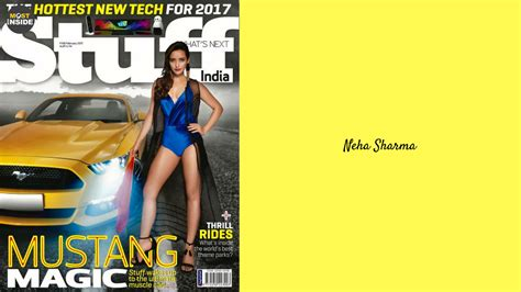 neha sharma bikini neha sharma sporting bikini for stuff india magazine 2017