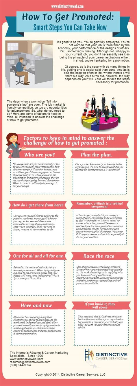 How To Get Promoted Infographic