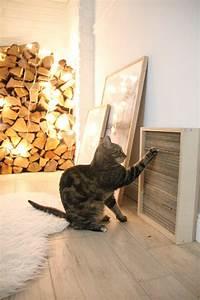 diy katzen kratzbrett selber machen design dots With balkon teppich mit wenn katzen an tapeten kratzen