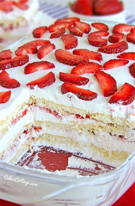 25 best memorial day recipes swanky recipes strawberry icebox cake baked strawberries and