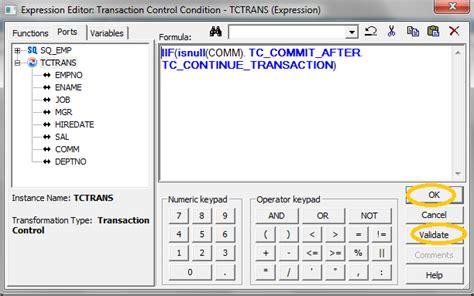 transaction control transformation  informatica