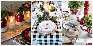 32 christmas table decorations centerpieces ideas for for Simple table decoration ideas for great celebrations