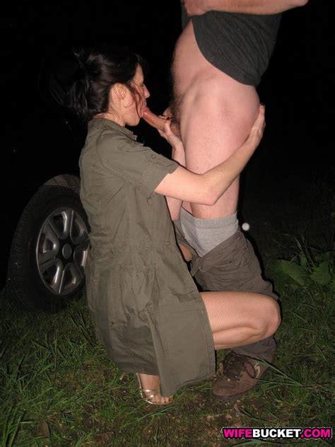 WifeBucket   Swinger wife outdoor sex