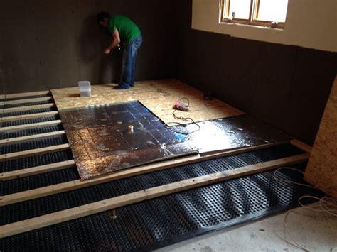 basement subfloor high density dimpled polyethylene
