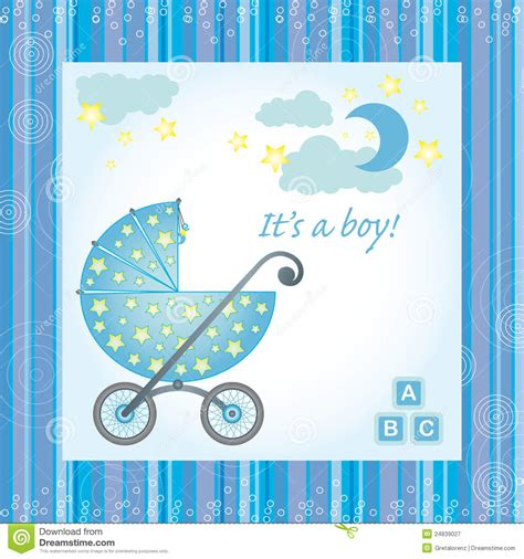 baby boy birth card royalty  stock photography image