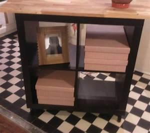 Meuble Industriel Ikea : relooking meuble kallax 4 cases ~ Teatrodelosmanantiales.com Idées de Décoration