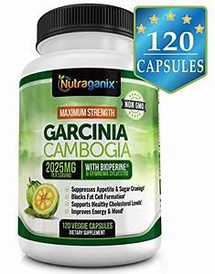 New   Maximum Strength Garcinia Cambogia Extract 2025mg  120 Veggie Capsules  Natural Weight