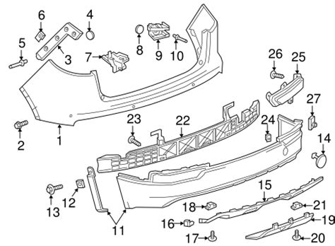 Buick Oem Parts by Oem 2016 Buick Envision Bumper Components Rear Parts