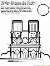 Coloring Dame Notre France Pages Paris Printable Coloringpagebook March Countries Monday Ages French Template Sheets Updated Coloringpages101 Nations Books Adult sketch template