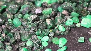 Faceting Loose Rough Colombian Emerald Gemstones - YouTube  Emerald