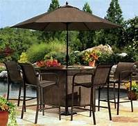 Patio Furniture Pub Table Sets by Choosing The Best Outdoor Patio Set With Umbrella For Your Home EVA Furniture