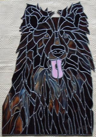 images  animals dogs stained glass