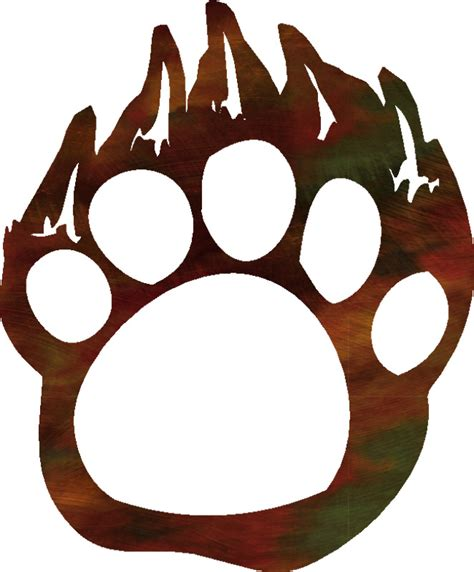 Grizzly Bear Paw Print Clip Art