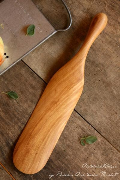 large wooden spurtle perfect  men  world kitchen