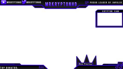 obs overlay template animated twitch overlay changes colors obs or xsplit