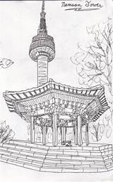 Namsan sketch template