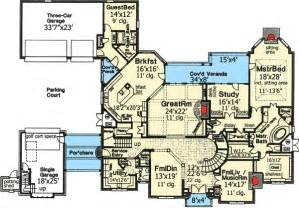5 bedroom house plans with bonus room plan w48266fm home plan with three staircases e