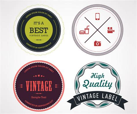 100  Free Vintage Badges That Are All the Rage!   Vectips