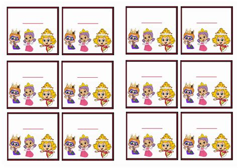 Bubble Guppies Name Tags Birthday By Theme Birthday