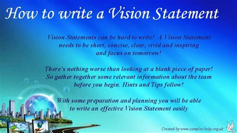 write team vision statements youtube