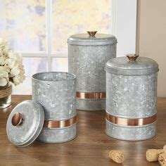 Cawley Lazy Susan   Galvanized metal provides a rustic